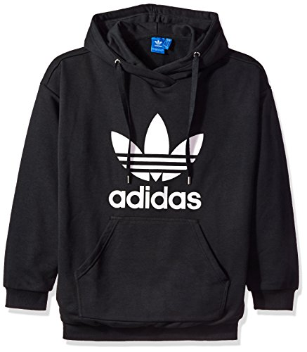 adidas Originals Women's Trefoil Hoodie, Black/French Terry