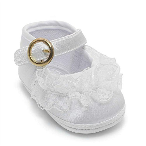 OOSAKU Baby Girl Christening Baptism Infant Lace Shoes Slipper