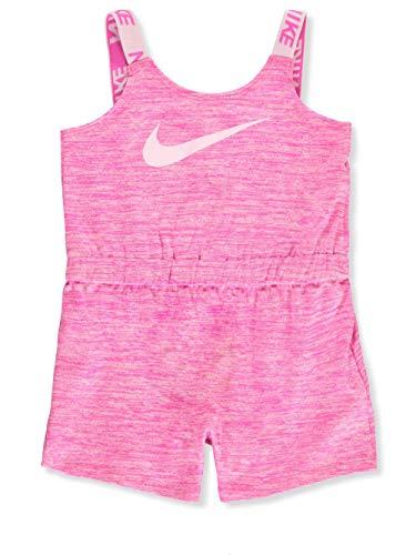 Nike Baby Girls' Romper - Laser Fuchsia, 0-3 Months