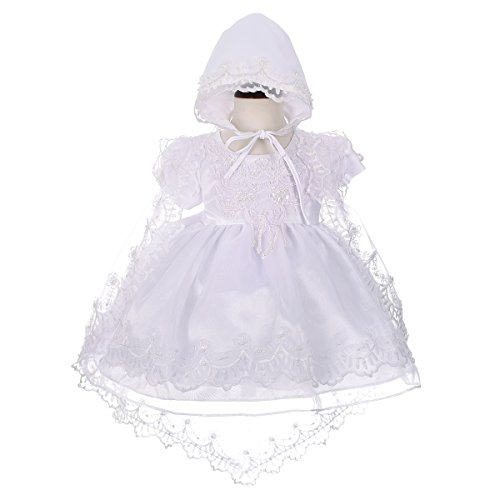 Dressy Daisy Baby Girls' Beaded Scalloped Embroideries Baptism Christening