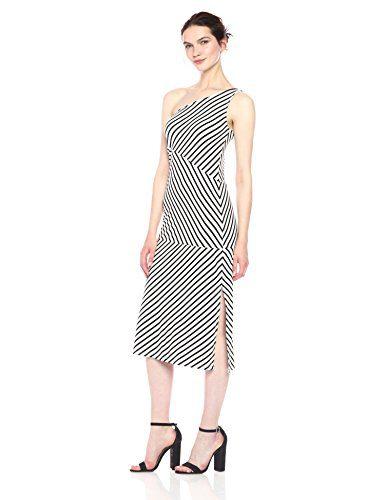 Rachel Pally Women's Nikolla Dress, Black/White Stripe, L