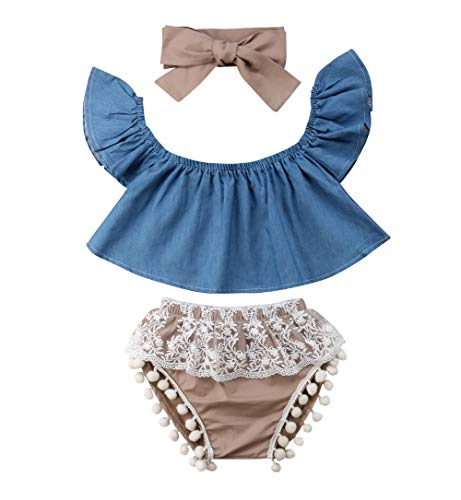 Imcute Cute Baby Girls Short Sleeve Blouse Tube Top+High Waist