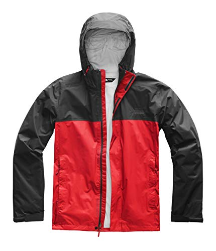 The North Face Venture 2 Jacket - Men's Fiery Red/Asphalt Grey