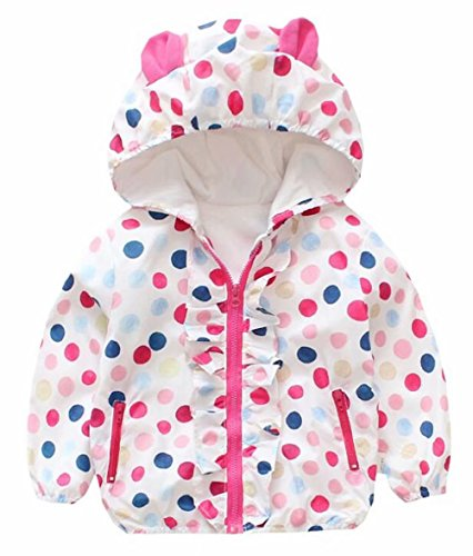 Baby Girls Cartoon Rabbit Outerwear Windbreaker Waterproof Raincoat