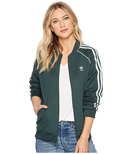 adidas Originals Women's SST Track Jacket Mineral Green X-Large