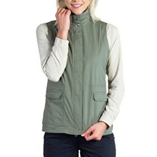 ExOfficio Women's FlyQ Vest, Bay Leaf, Large