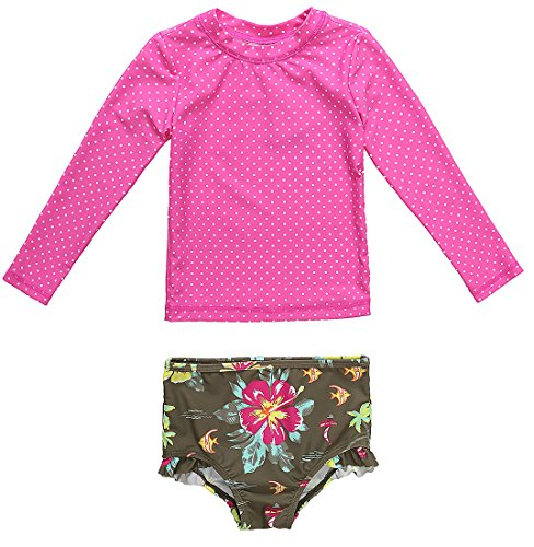 ALove Baby Girls Rash Guard Long Sleeve Swimsuit