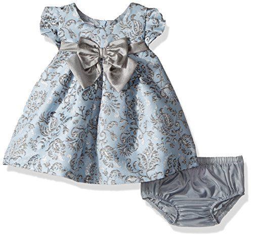 Bonnie Baby Baby Baby Girls Short Sleeved Brocade Float