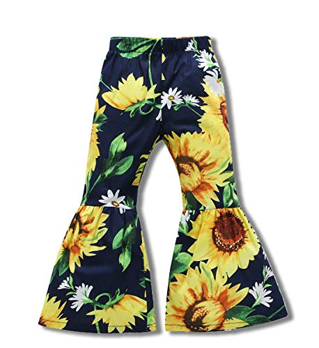 Little Kids Baby Girls Summer Floral Print Long Pants