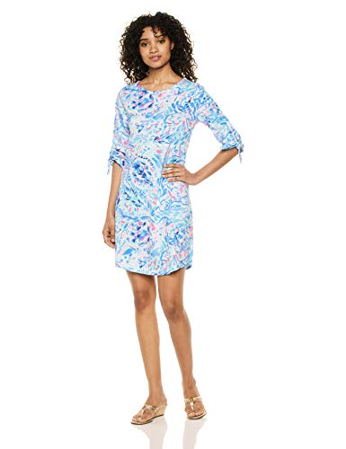 Lilly Pulitzer Women's Preston Dress, Breakwater Tint Party Wave, XL