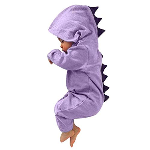Baby Layette Set Infant Baby Boy Girl Dinosaur Hooded Romper Jumpsuit Outfits