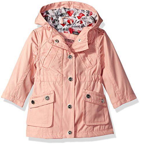 Urban Republic Girls' Cute Trench Coat 1, Baby Pink, 18M