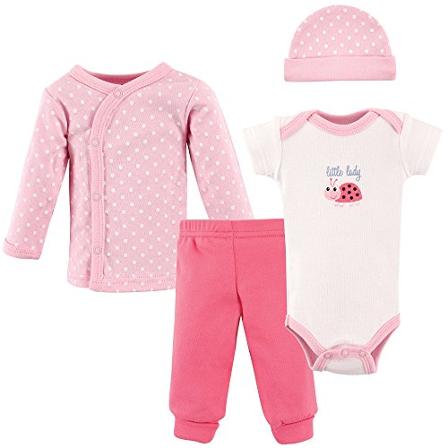 Luvable Friends Baby Preemie 4 Piece Pant, Bodysuit, Shirt