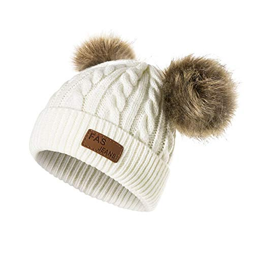 Infant Toddler Beanie Woolen Hat Pure Color Winter Twist
