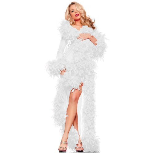 Be Wicked Glamour Robe Adult Lingerie White