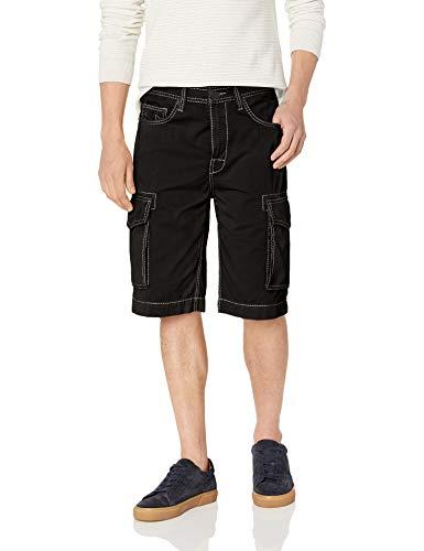 True Religion Men's Cargo Short, Jet Black