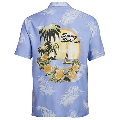Tommy Bahama Embroidered Kahuna Sunset Silk Camp Shirt