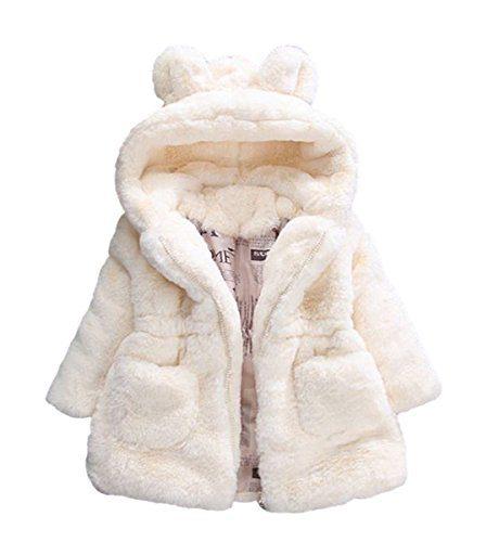 Baby Little Girls Winter Fleece Coat Kids Faux Fur Jacket