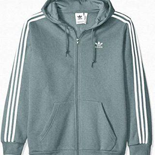 adidas Originals Men's 3-Stripes Full Zip Hoodie