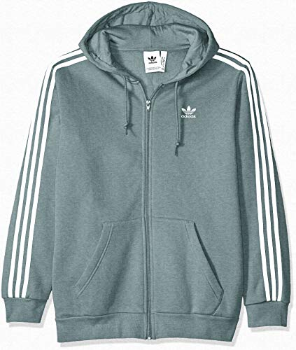 adidas Originals Men's 3-Stripes Full Zip Hoodie