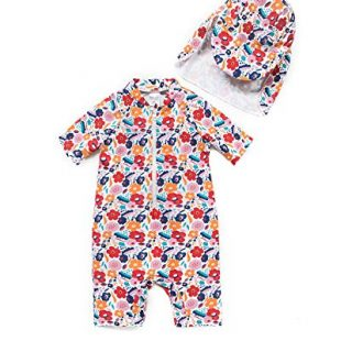 Baby Swimsuit Girl Bathing Suit with UPF 50+ Sun Protection