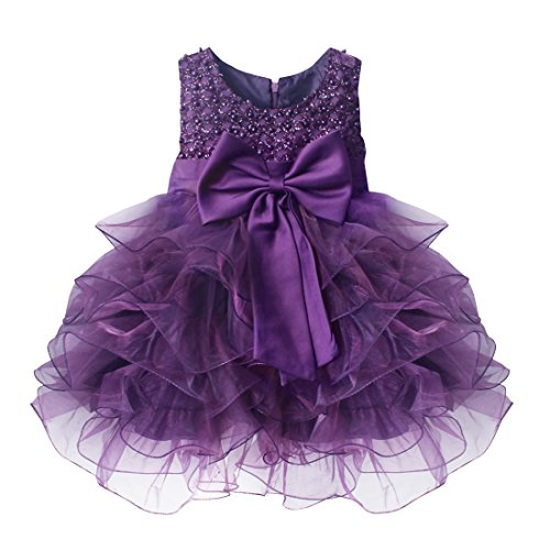 TiaoBug Baby Girls Flower Wedding Pageant Princess