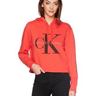 Calvin Klein Jeans Women's Monogram Logo Hoodie Sweatshirt