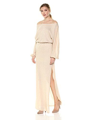 Rachel Pally Women's Seaton Sweater Dress, Natural/Gold L