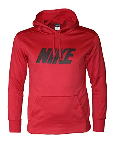Nike Men's Therma FIT Pullover Hoodie (Small, Red)