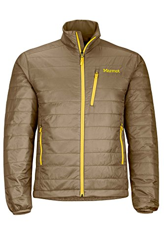 Marmot Calen Men's Insulated Puffer Jacket, Brown Moss