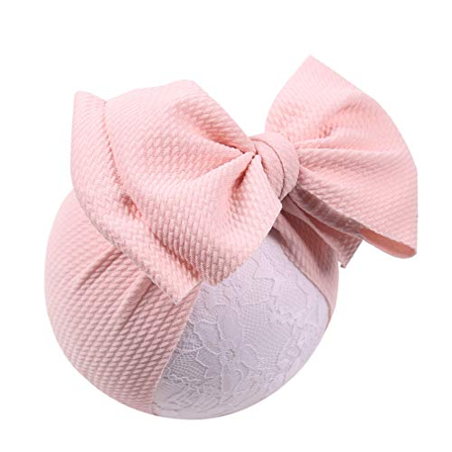 YanJie Baby Large Bows Headwrap Stretch Textured Fabric Top
