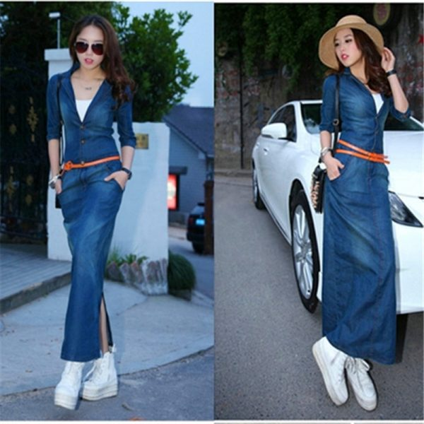 Women Denim Dress 19 Fashion Women Dress Brand Clothing