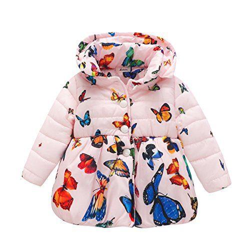 BOBORA Infant Baby Girl Butterfly Pattern Coat Toddler Jacket Outwear