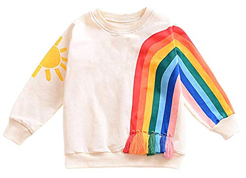 Younger star Baby Girls Autumn Soft Rainbow Top Blouse Long Sleeve