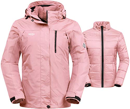 Wantdo Women's Waterproof 3-in-1 Skiing Jacket