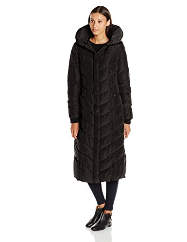 Steve Madden Women's Long Chevron Maxi Puffer Coat