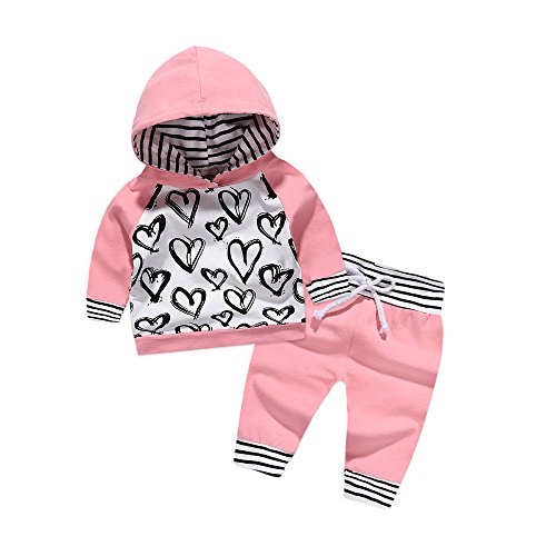 2pcs Girls Clothes Hoodies Baby Infant Girl Outfits Long Sleeve Pullover
