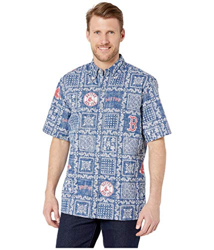 Reyn Spooner Men's Boston Red Sox MLB Classic Fit Hawaiian Shirt