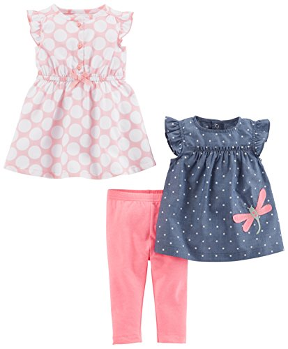 Simple Joys by Carter's Baby Girls' 3-Piece Playwear Set