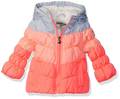 OshKosh B'Gosh Baby Girls Perfect Colorblocked Heavyweight Jacket Coat