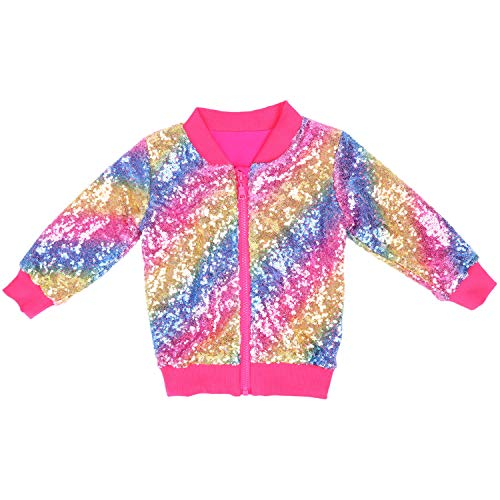 Cilucu Kids Jackets Girls Boys Sequin Zipper Coat Jacket