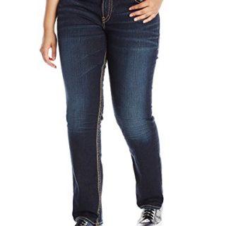 Silver Jeans Women's Plus-Size Suki Mid Rise Straight Leg Jean