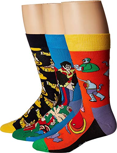 Happy Socks Men's Beatles EP Collector's Box 3-Pack Assorted