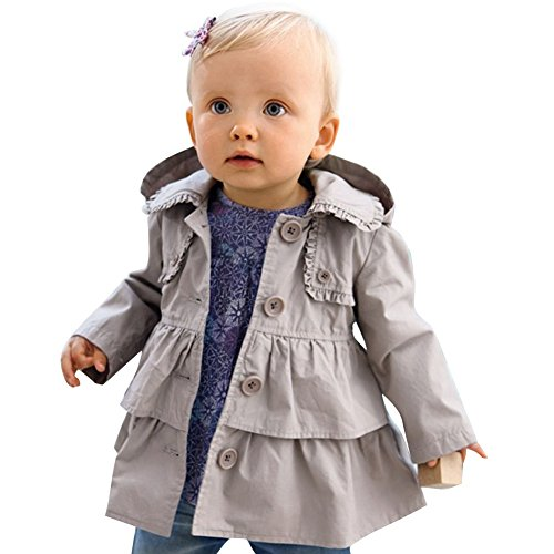 ACSUSS Infant Baby Girls Fall Winter Button Down Trench