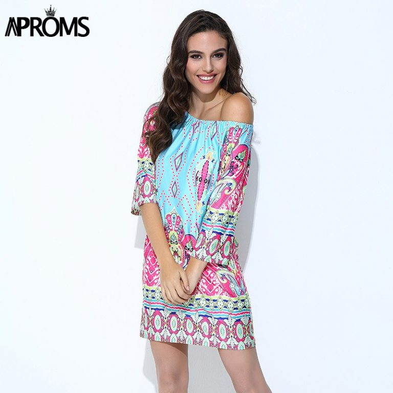 Aproms Boho Elegant Women Summer Dress High Street