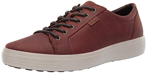 ECCO Men's Soft 7 Sneaker, Cognac Oil Nubuck