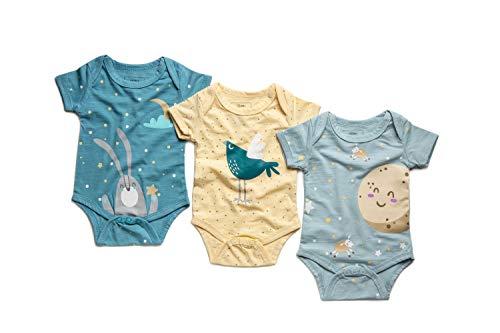 Newborn 3-6 Months Baby Girl/Boy Natural Organic Bamboo Fabric Onesies Set
