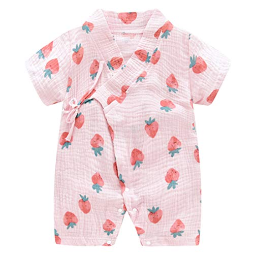 PAUBOLI Baby Kimono Robe Newborn Cotton Yarn Bodysuit