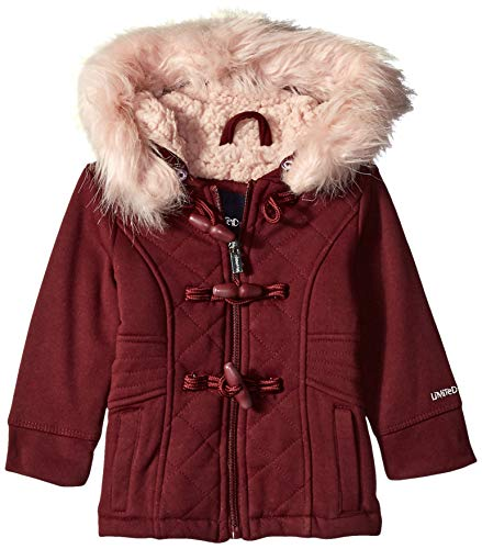 Limited Too Baby Girls Quilted Toggle Fleece Jacket, Burgundy