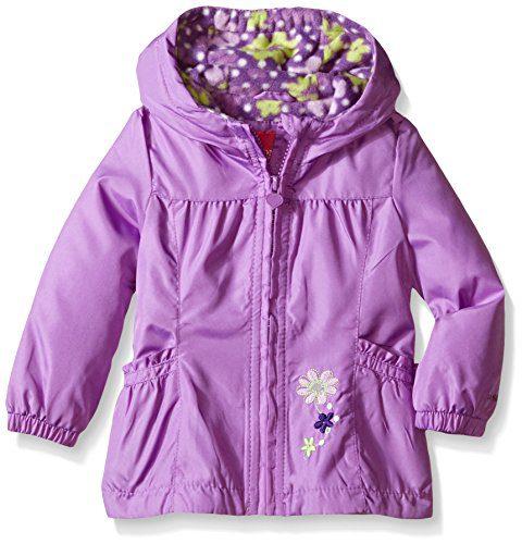 London Fog Baby Girls' Floral Printed Fleece Lined Jacket